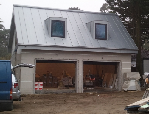 Zinc roofed garage case study
