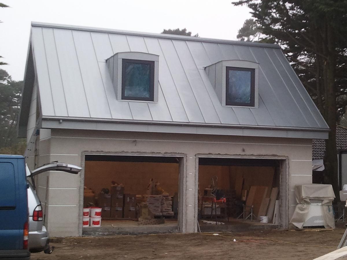 Zinc Garage Roof Zinclad